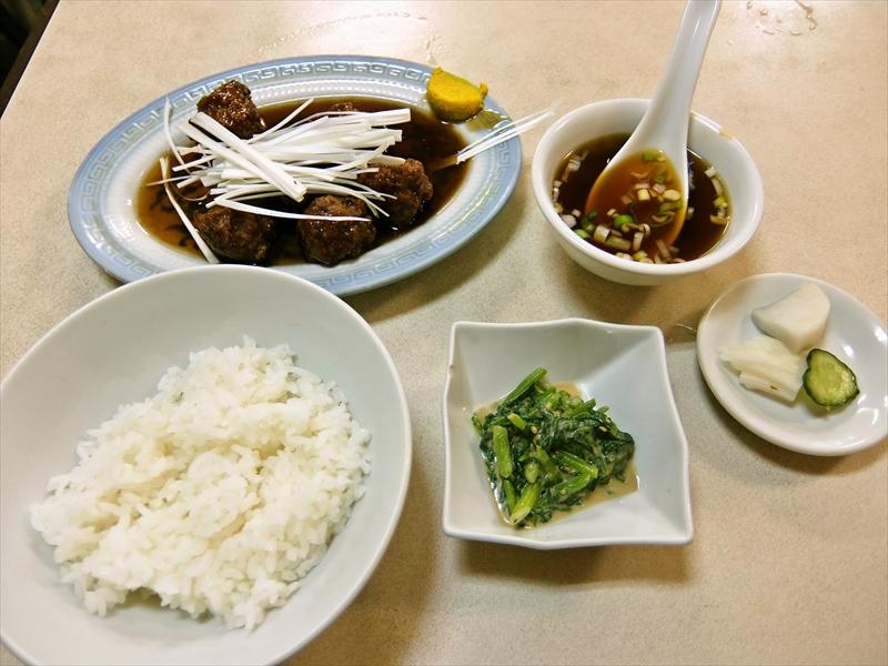 中国料理『大興』で肉団子的な定食を食べてみた次第@神保町の路地裏