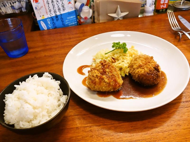 『洋食航旅莉屋』ダブルコロッケ的なランチを食す!@町田
