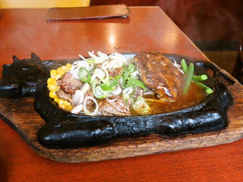 『くいしんぼ』のカットステーキ&ハンバーグランチが神コスパな件@町田