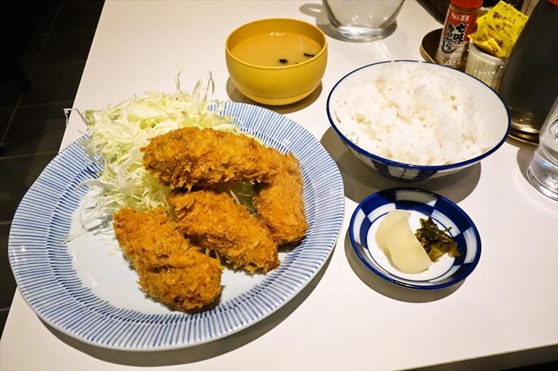 『ふくよし』→『とんかつ福与志』となったのでカキフライ定食(時価)を食べに行った