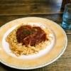 スパゲティ屋『青山』ガーリックスパゲティをミートソースで食べてみた@相模原