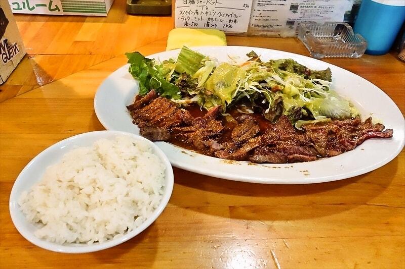 """【ランチ】『コシード』で""""特大特選ガーリック牛ステーキとか素敵だと思うのですが?"""
