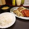 """『ポパイ』で""""生姜焼き&ハムステーキ定食""""を食べた話@代々木"""
