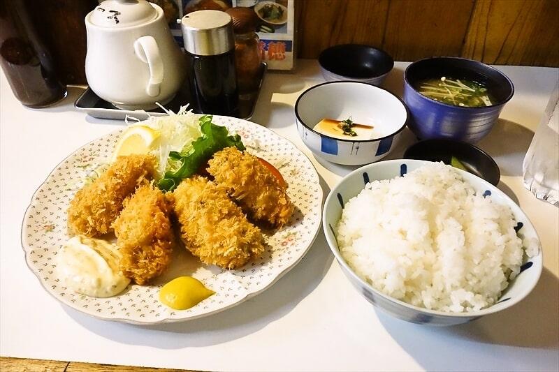 『稲穂』でカキフライ定食を食べて来たので御報告@町田