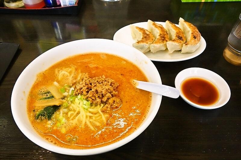 『南京亭』担々麺と手作りジャンボ餃子でランチしてみた@相模原橋本店