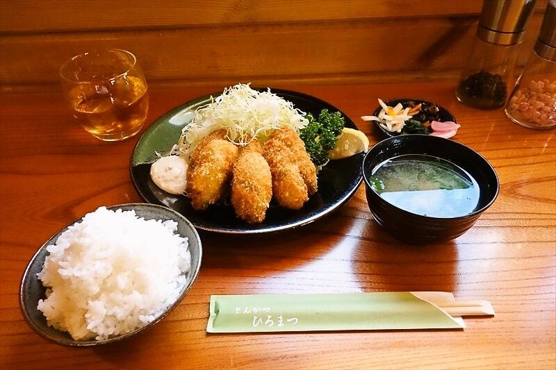 町田の名店とんかつ『ひろまつ』でカキフライ的な定食を食す!