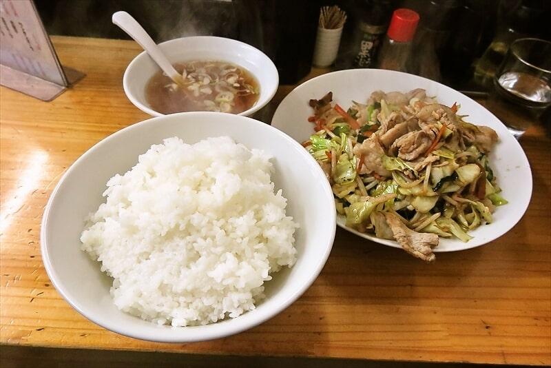 【デカ盛り】『自由軒』で肉野菜炒めライス大盛りって最高じゃね?@相模原