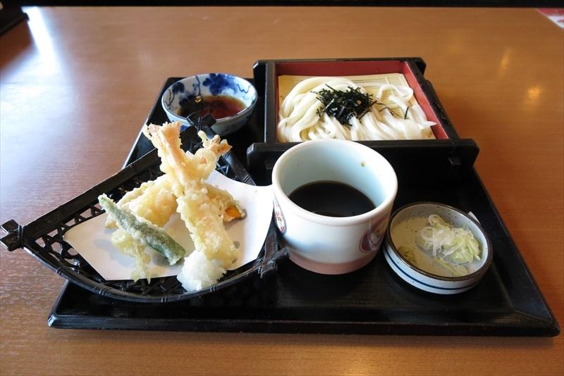 """『味の民芸』で""""天ぷら付セイロうどん""""を食べてみた@相模原並木店"""