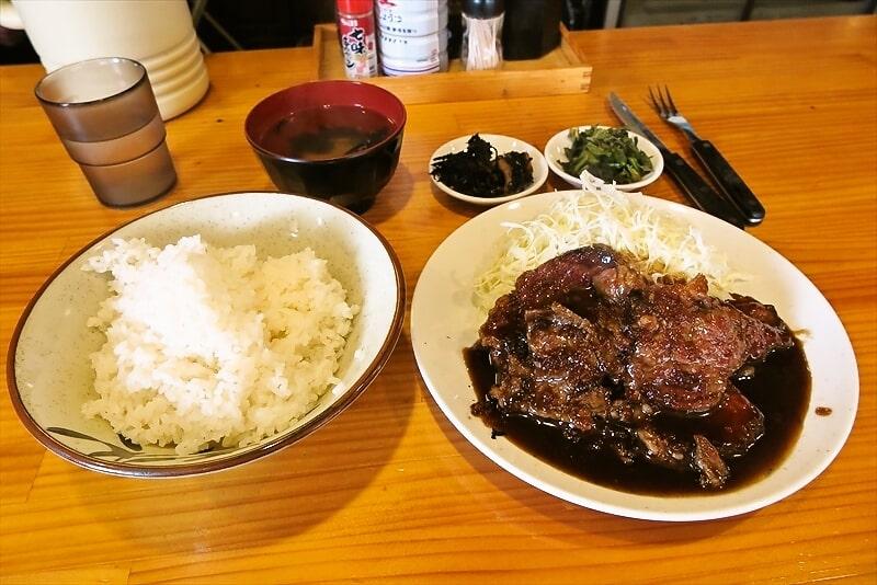 『つわの』国産和牛を使った生姜焼き定食大盛りを食す!@相模原