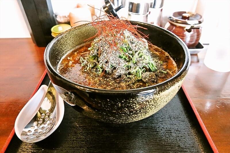 『麺場 新』黒胡麻担々麺は大盛り&追い飯無料ですと?@相模原