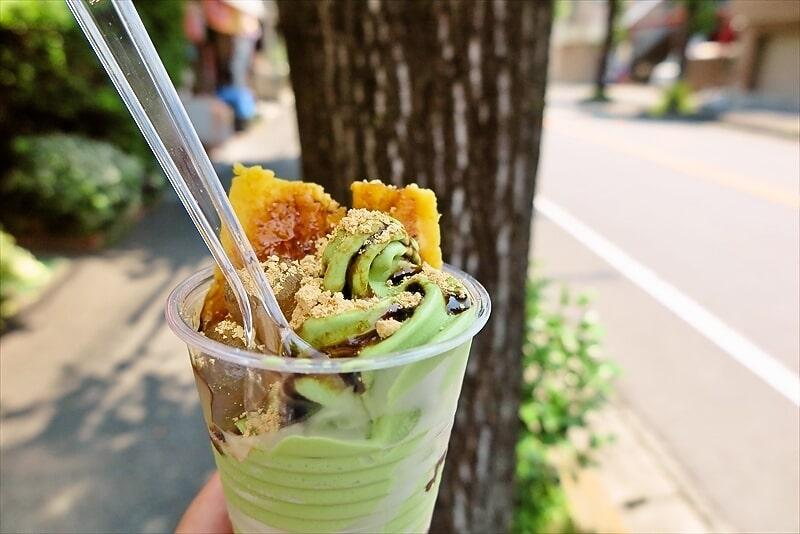 『イモンチ』焼き芋+わらび餅+ソフトクリーム=いもんちパフェ
