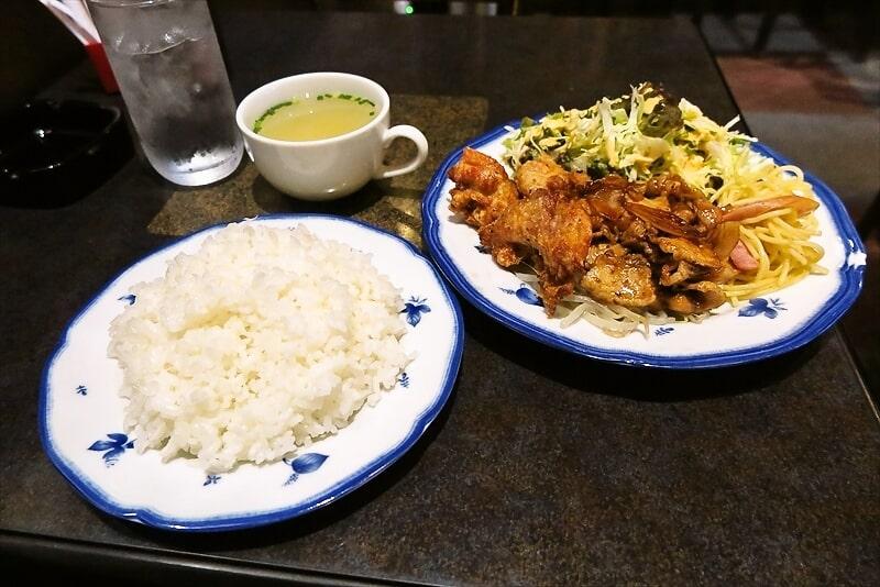 町田の『ケント』でブタ焼&唐揚的なランチを食べてみた