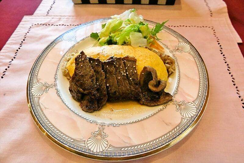 『ラピュタ』でステーキオムライスとコロッケを食べる日@愛川町