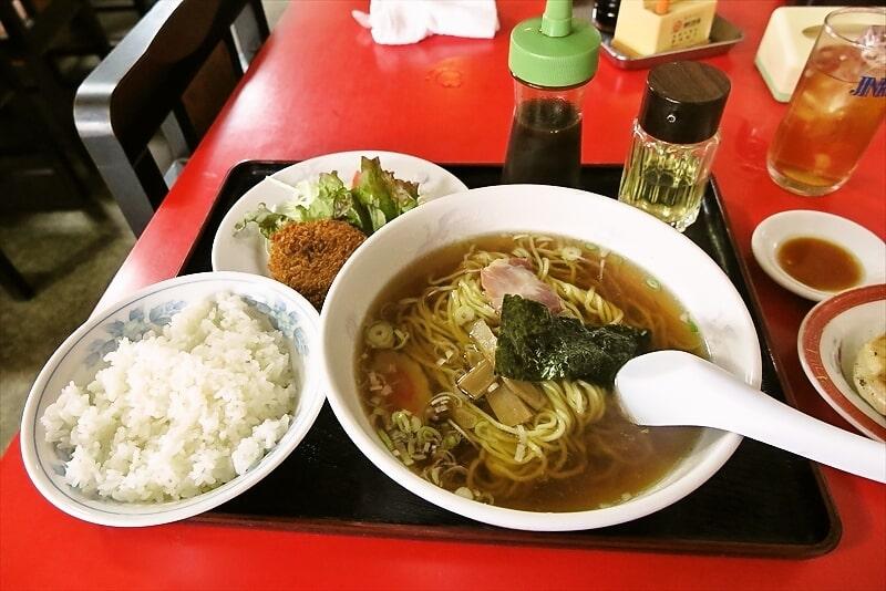 『福富』ラーメン&ライス&コロッケで500円!餃子は300円ですと?
