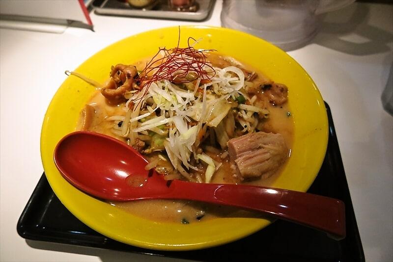 『RA-MEN 3SO』香福豚ホルモン炒めのせ的な味噌ラーメンを食す!