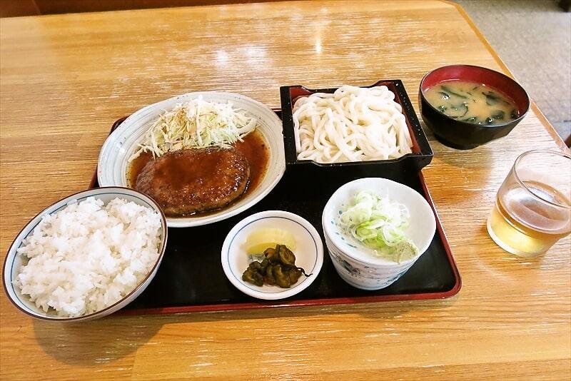 『長生庵』蕎麦屋で食べるハンバーグセットが尊い@相模原