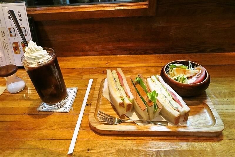 【相模原】『樹里』でミックスサンドイッチ&アイスウィンナ【喫茶店】