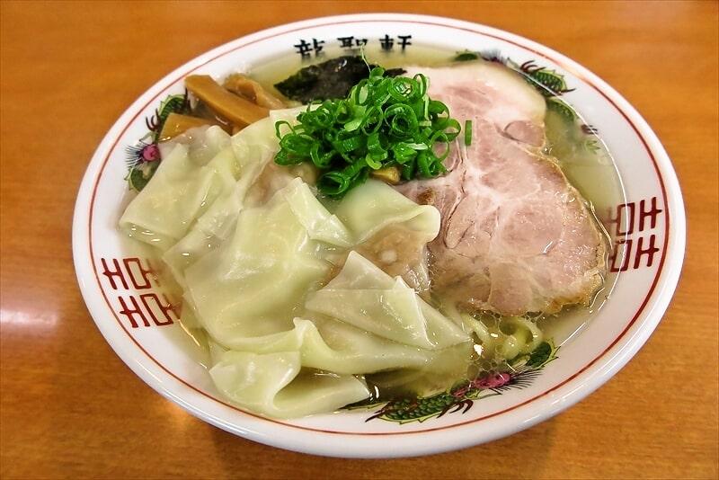 町田『龍聖軒』がオープンしたので塩ワンタン麺的なラーメン食べた