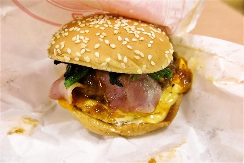 『ドムドムハンバーガー』パワフルポパイバーガーとやらを食べてみた
