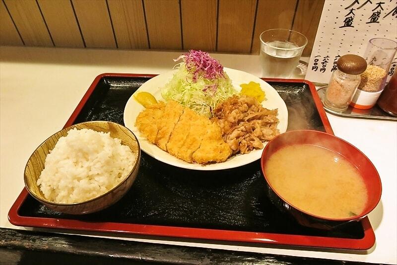 小田急相模原『朱鞠』ミックス定食のミックス感を語りたい@豚カツ