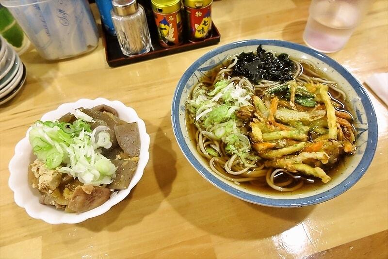 小田急相模原『とのそば』天ぷら蕎麦&モツ煮でオールナイト