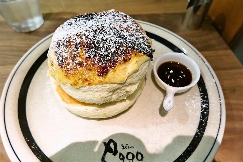 国分寺『eggg Cafe』ふわふわブリュレパンケーキ@もりサブ子