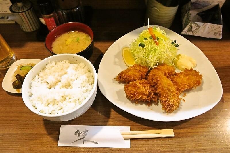 『とんかつ大國』ランチのカキフライ定食800円が美味しい件@八王子