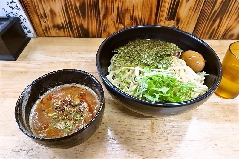 相模原『麺屋ひばり』特製ピリ辛みそつけ麺激盛り450gワンチャン!