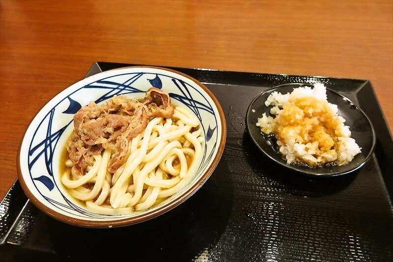 『丸亀製麺』復刻!鬼おろし肉ぶっかけうどん実食レビュー的な?