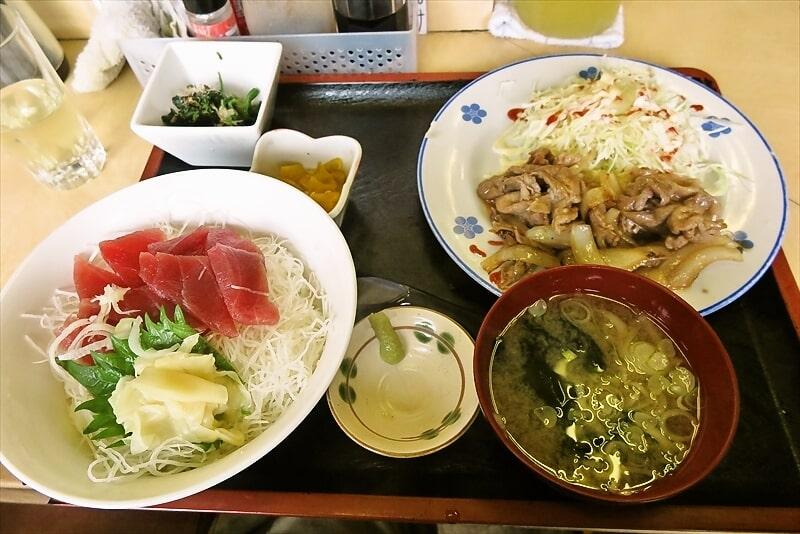 相模原『食事処 禅』鉄火丼と焼肉的な定食650円でどうでしょう?