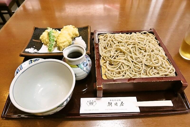 南林間『手打そば処 朝日屋』ハモの天麩羅&蕎麦で鱧天せいろ的な!