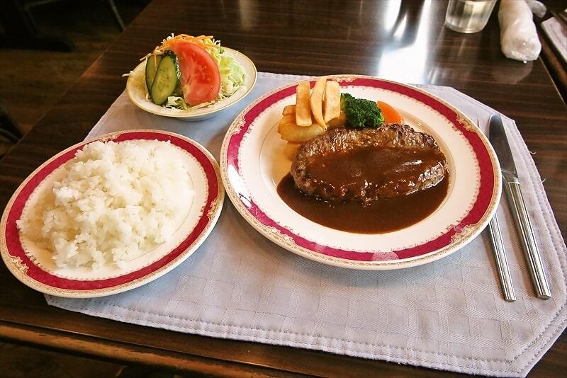 南林間『レストラン ネージュ』ネージュハンバーグランチが美味しい