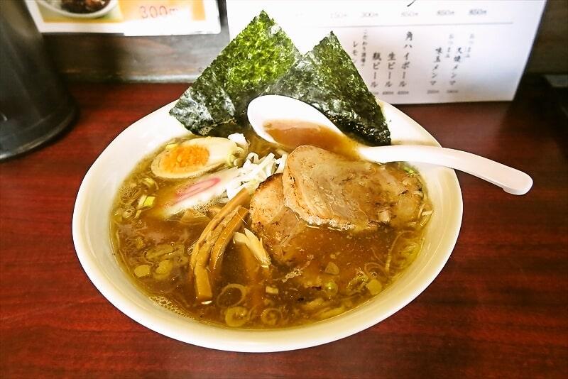 『小澤製麺所』魚介豚骨醤油ラーメンを食す!@『炭火焼ホルモン 秀』