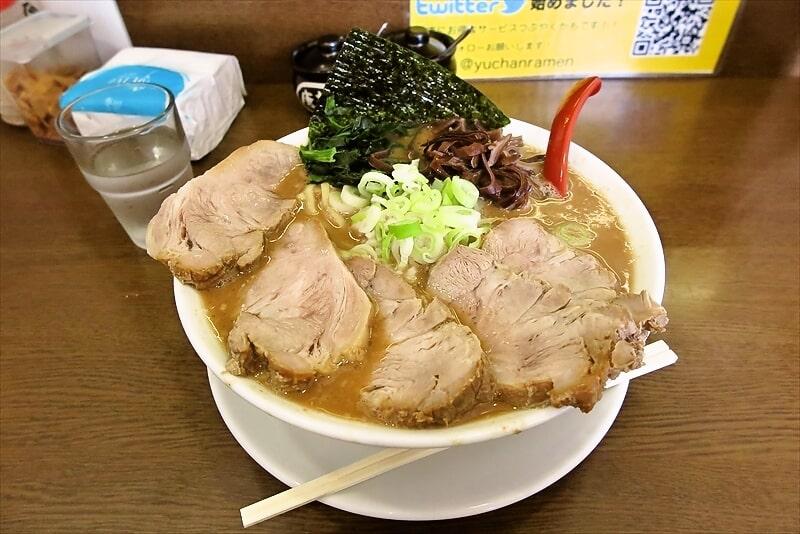 大和市『うまいヨ ゆうちゃんラーメン』チャーシューメン大盛が美味しい