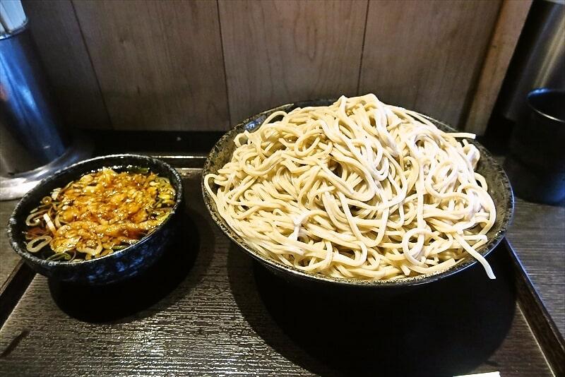 横浜『喜和味庵』きわみもりそば1㎏のボリューム感よ……@東神奈川駅