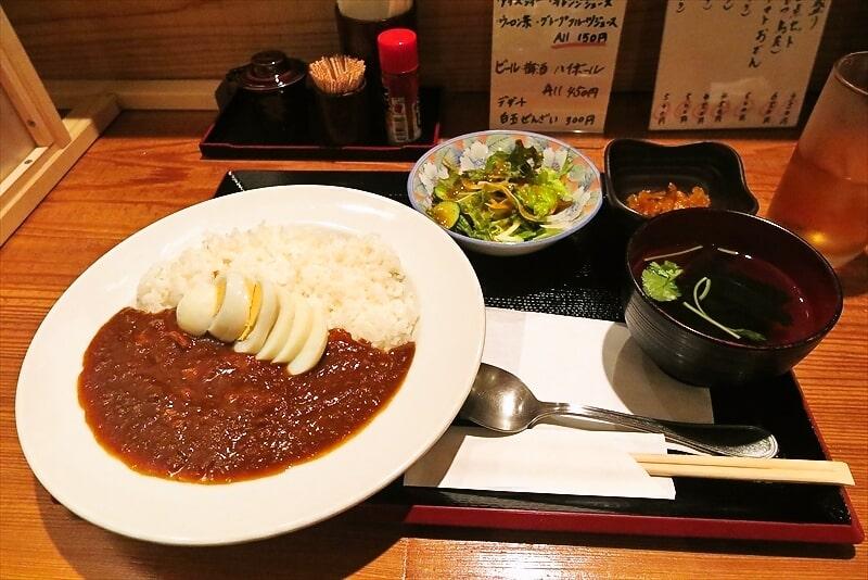 町田『おでんと梅酒 柳や』ランチの牛スジカレーが美味しい件
