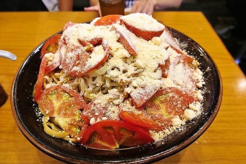 【デカ盛り】『麺屋 歩夢』冷やし中華 粉チーズWトマトW【G系】
