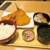 築地食堂『源ちゃん』チキンカツとアジフライとお刺身セット@新横浜