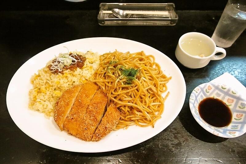 【横浜】『金太郎』チャーハン&焼きスパ&チキンカツでトルコライス【デカ盛り】