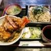 相模原『大むら』天丼セット蕎麦大盛りの海老ヂカラよ……