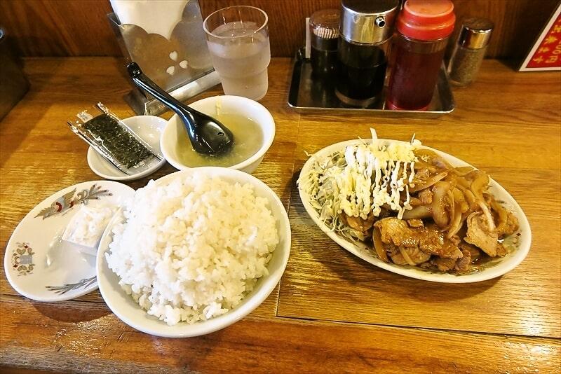 『中華一 龍王』ライス大盛り無料!豚生姜焼き定食でどうでしょう?@横浜