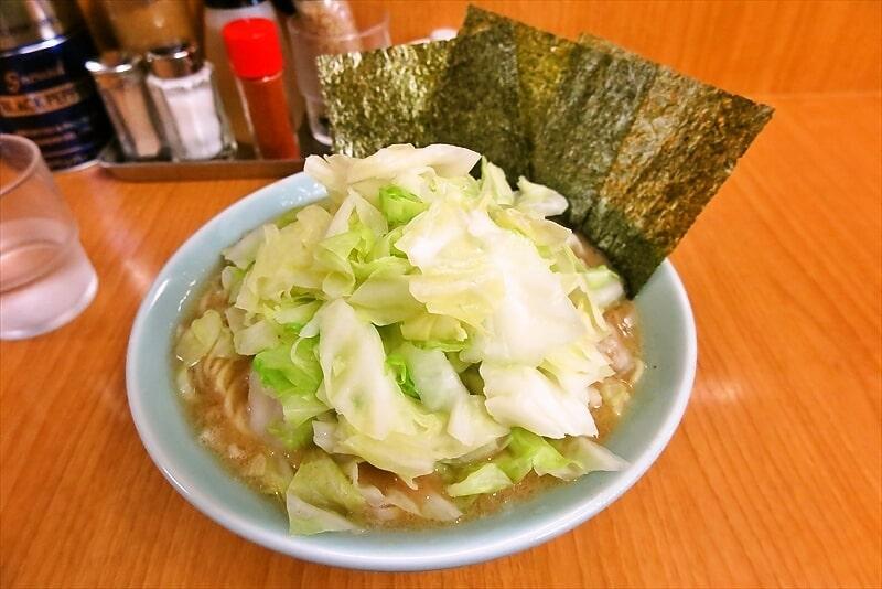 『相南家』家系ラーメンをキャベツ&細麺で食べる時@相模原