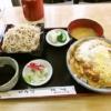 『末広』カツ丼そばセットが御飯と蕎麦大盛りで700円ですと?
