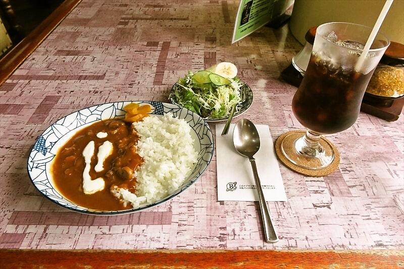 『喫茶店アップ』特製ハヤシライスセット&アイスコーヒー@横浜