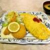 横浜『居酒屋 山小屋』エビフライクリームコロッケオムライス800円
