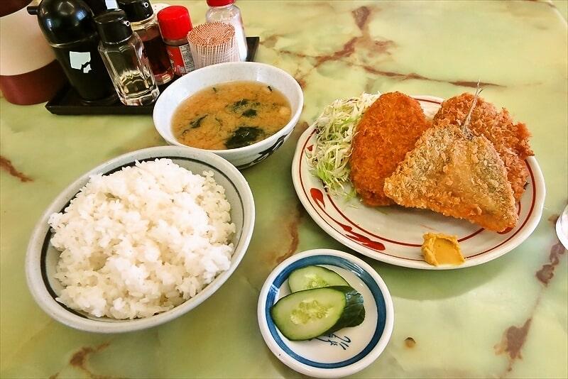 橋本『よしの食堂』ミックスフライ定食が美味しかった件@相模原