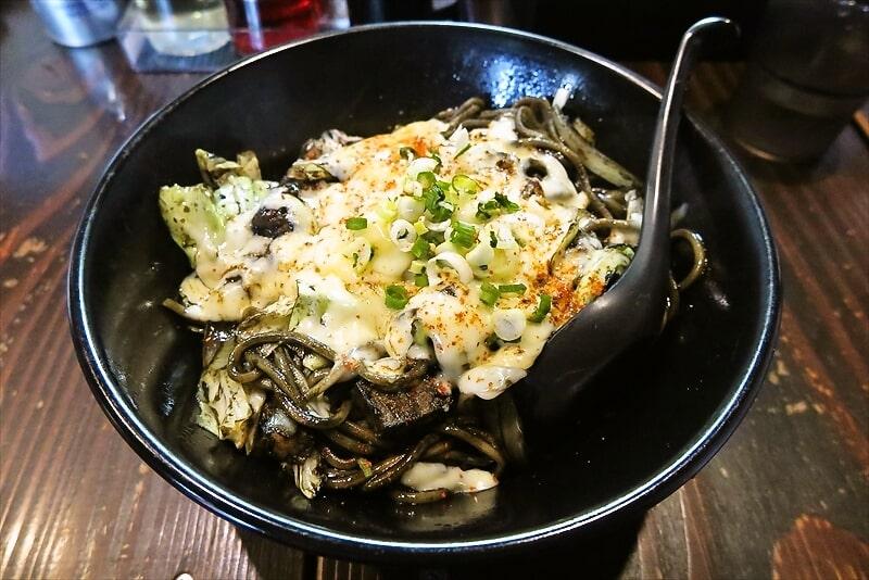 淵野辺『麺屋 銀時』限定のイカスミ辛麺的な油そばが美味しい件