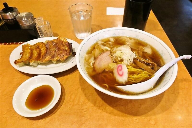 大口餃子『寺尾屋』ワンタンメン&餃子で650円ですと?