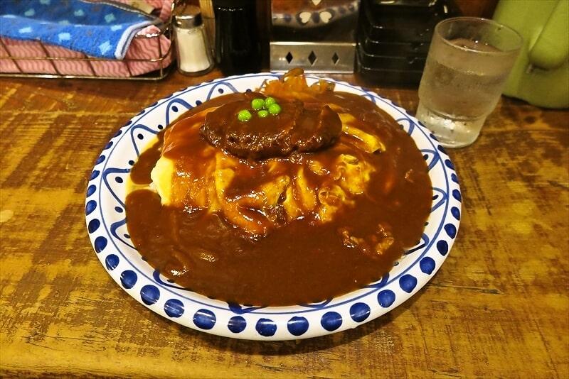 熊本旅行グルメ『カレーショップ クレイン』オムハヤシハンバーグを食す!