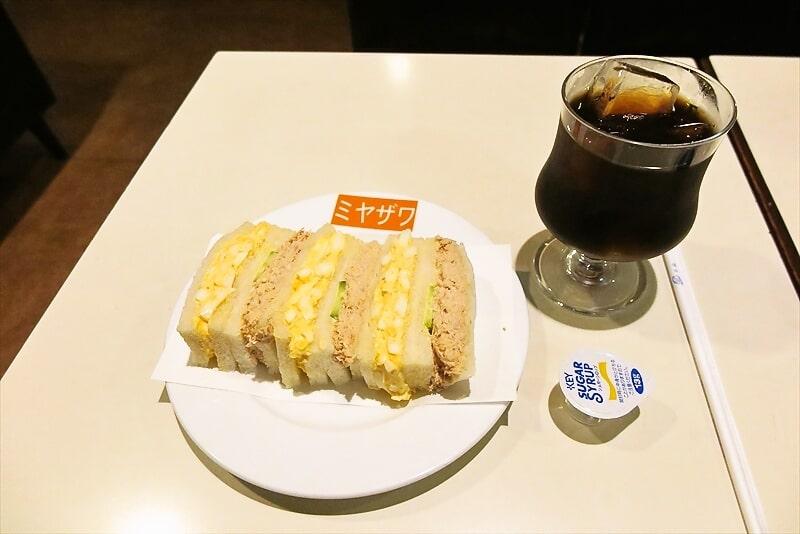 """銀座グルメ『みやざわ』人気の喫茶店で""""たまごサンド""""を食べてみた"""